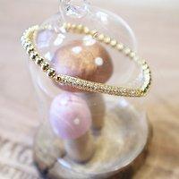   RACHELLE   - Bracelet perles & cristal // Doré