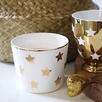 | AURORE | - Mug en céramique étoiles // Blanc