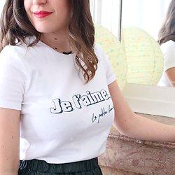 """  THÉÂTRE   - T-shirt coton """"Je t'aime"""""""