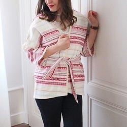 | HONEY | - Veste brodée façon kimono