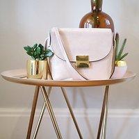 | BABY | - Petit sac à rabat en cuir // Doré clair