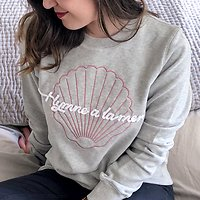 "| COQUILLAGE | - Sweat ""Hymne à la mer"" // Gris"