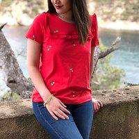 | MORUYA | - Tshirt fleurs brodées // Plusieurs coloris