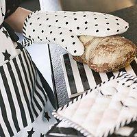 | PACHA| - Lot de 2 gants de cuisine // Pois noirs