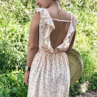 | LUCILE | - Robe imprimée summer // Rose