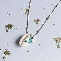 | KHOL | - Collier fantaisie coquillage // Turquoise