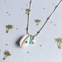 | KHOL | - Collier fantaisie coquillage // Turquoise