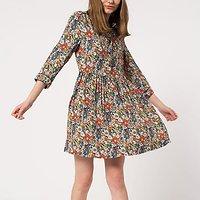 | RESPECT | - Robe chemise fleurie // Marine