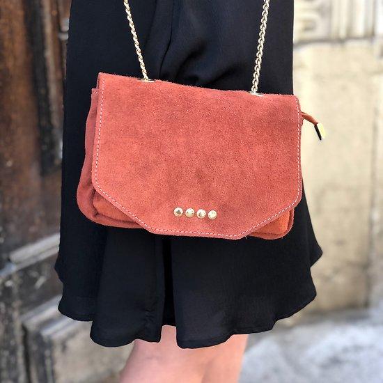   KAMENI   - Petit sac à rabat en cuir