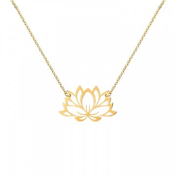   NÉFÉ   - Collier fleur de lotus // Plusieurs coloris