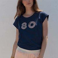 | LA BOUM | - Tshirt imprimé 80 // Marine