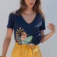 | PALME D'OR | - Tshirt imprimé exotique // Plusieurs coloris