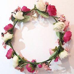 | ROMY | - Grosse couronne de fleurs