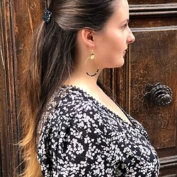 | ESTELLE | - Créoles & perles noires