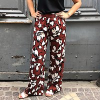 | SCARLETT | - Large pantalon fluide // Marron