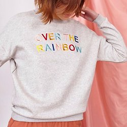 | OVER THE RAINBOW | - Sweat brodé