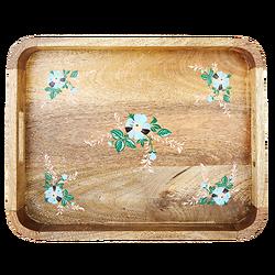 | LOUISE | - Plateau en bois fleurs