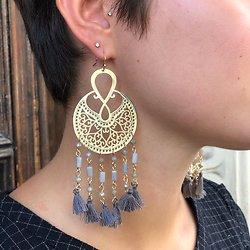 | EMILY | - Boucles d'oreilles pompon