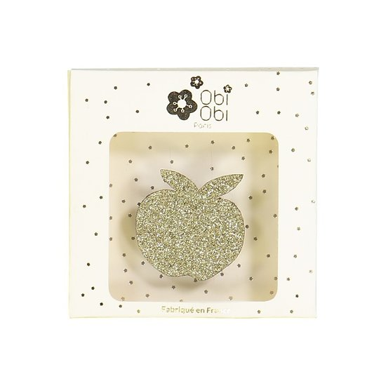   EVE   - Broche pailletée pomme