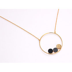 | TRIO | - Sautoir anneau + cuir