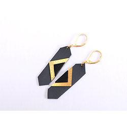 | LOUVRE | - Boucles géométriques cuir