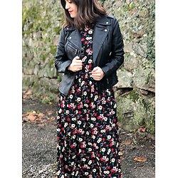 | RICKY | - Robe longue fleurie
