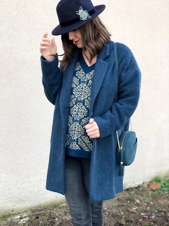 | MANON | - Manteau loose en laine