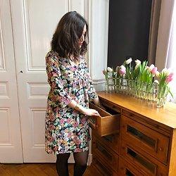 | PERRINE | - Robe fluide fleurie