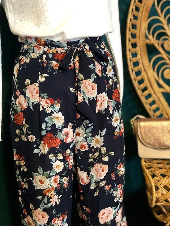 | BIARRITZ | - Pantalon fluide fleuri
