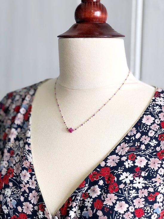   DANNY   - Collier perle trèfle