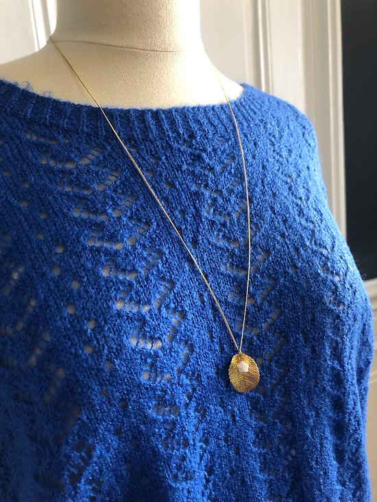 | DARCY | - Collier feuille + rose