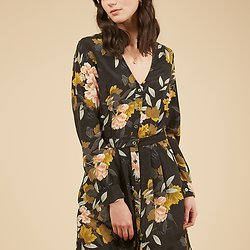| ANIELLE | - Robe longue fleurie