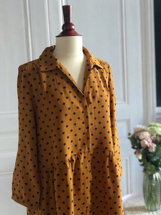 | BANDOL | - Robe chemise à pois