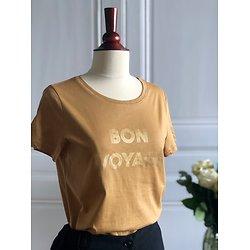 "| LÉONTINE | - T-shirt ""Bon voyage"""