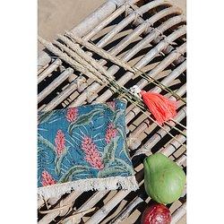 | LANA | - Pochette fleurie pompon