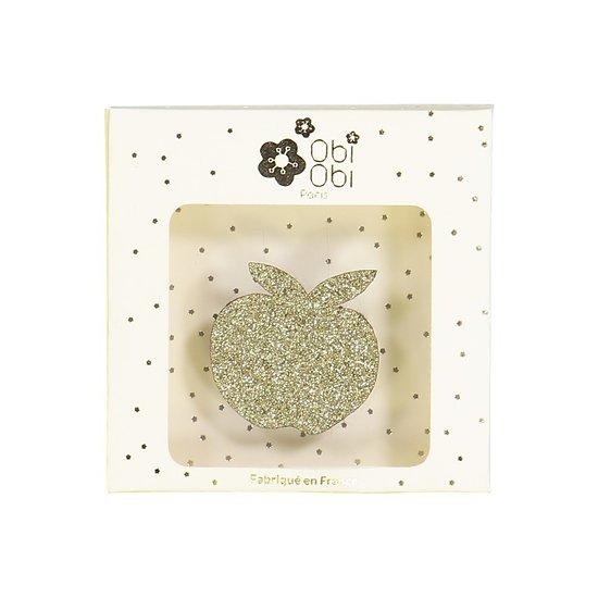 Broche pailletée pomme