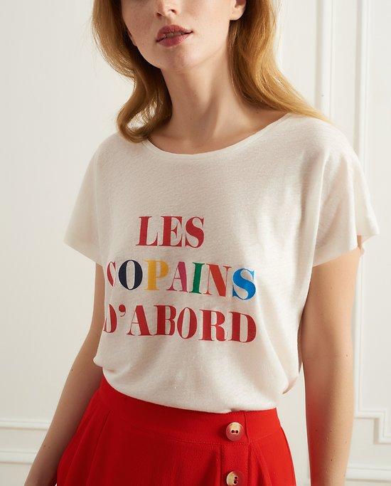 "| TESS | - T-shirt ""Les copains d'abord"""