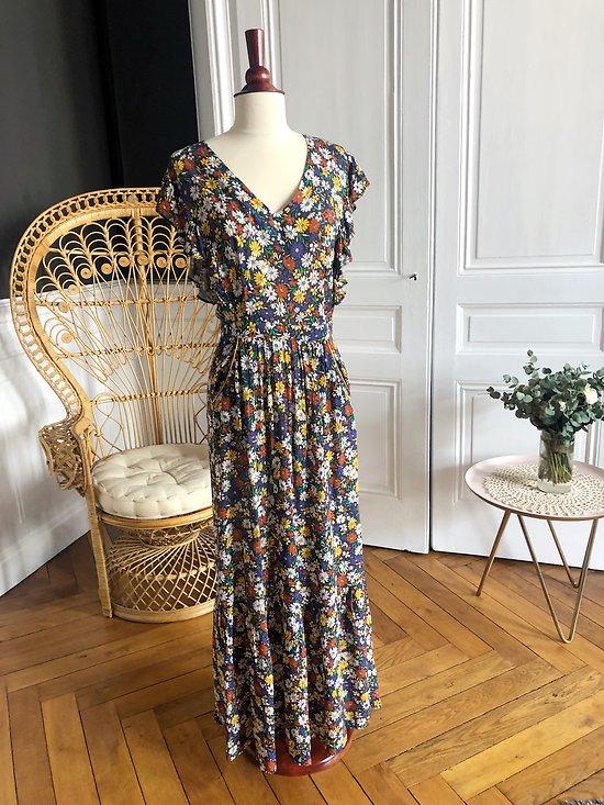 | ROXANE | - Robe longue marguerites