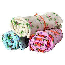 Petite serviette fleurie Nolwenn