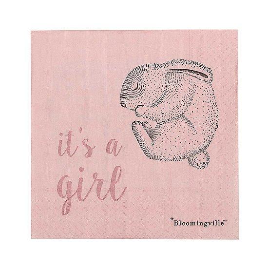 "Serviettes ""it's a girl"" Alina"
