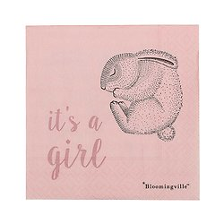 "Serviettes ""it's a girl"" Alina"