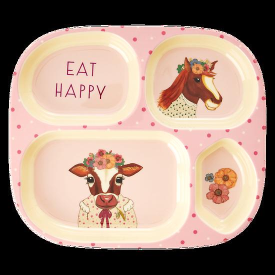 Assiette compartimentée Albertine