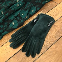 Gants velours Chantal