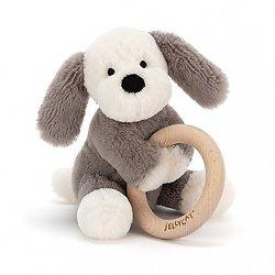 Hochet/Anneau lapin chien Edgar