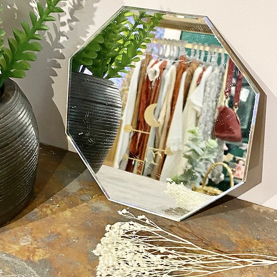 Petit miroir biseauté  octogonal