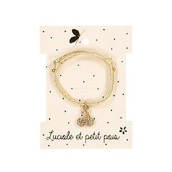 Bracelet cordon cerises