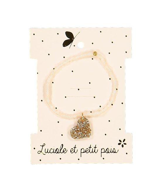 Bracelet perles coeur