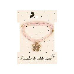 Bracelet tissu fleur