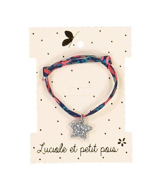 Bracelet tissu étoile