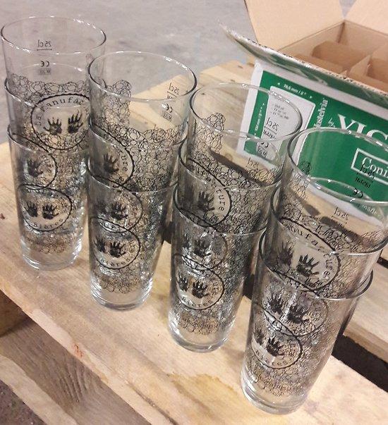 """12 verres 25cL"""" la Manufacture de Bières"""""""